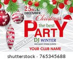 template christmas party... | Shutterstock .eps vector #765345688