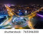 aerial drone view of roundabout ... | Shutterstock . vector #765346300