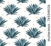 blue agave vector seamless... | Shutterstock .eps vector #765348526