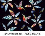 embroidery colorful seamless... | Shutterstock .eps vector #765350146