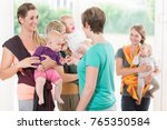 group of women learning how to... | Shutterstock . vector #765350584