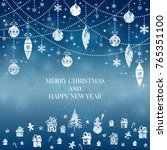 new year and merry christmas... | Shutterstock .eps vector #765351100