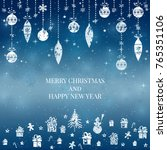 new year and merry christmas... | Shutterstock .eps vector #765351106