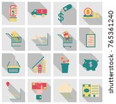 set of business simple icons.... | Shutterstock .eps vector #765361240