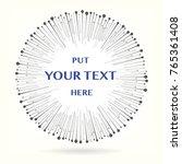 burst ray background. put text... | Shutterstock .eps vector #765361408
