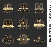 luxury monograms logos... | Shutterstock .eps vector #765361603