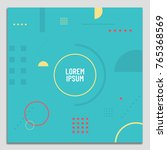 vector set of abstract... | Shutterstock .eps vector #765368569