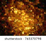 gold geometric low poly vector... | Shutterstock .eps vector #765370798
