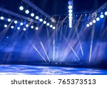 light from the scene  a rock... | Shutterstock . vector #765373513