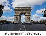 paris france   october 3 2017 ... | Shutterstock . vector #765375256