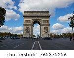 paris france   october 3 2017 ... | Shutterstock . vector #765375256