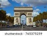 paris france   october 3 2017 ... | Shutterstock . vector #765375259