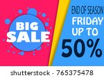 sale banner template design ... | Shutterstock .eps vector #765375478