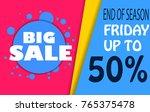 sale banner template design ... | Shutterstock .eps vector #765375478
