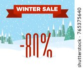 winter sale numbers on the... | Shutterstock .eps vector #765375640