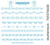 blue frozen set of vector... | Shutterstock .eps vector #765376630