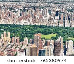 helicopter view of midtown... | Shutterstock . vector #765380974