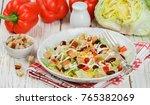 delicious salad of iceberg... | Shutterstock . vector #765382069