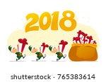 vector flat merry christmas...   Shutterstock .eps vector #765383614