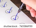 check off already completed... | Shutterstock . vector #765386950