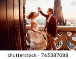 groom in a luxurious costume... | Shutterstock . vector #765387088