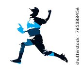 baseball player  abstract blue... | Shutterstock .eps vector #765388456