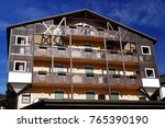 Small photo of MADONNA DI CAMPIGLIO ITALY - OCTOBER 24, 2017: View of the main square of Madonna di Campiglio Resort, Italy. Madonna di Campiglio is a ski resort in Dolomites Alps Italy