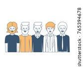 men in half body with casual... | Shutterstock .eps vector #765394678