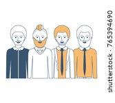 men in half body with casual... | Shutterstock .eps vector #765394690