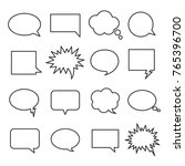 Line Speech Bubbles. Icon...