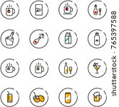 line vector icon set   tea... | Shutterstock .eps vector #765397588