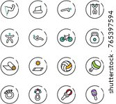 line vector icon set   power... | Shutterstock .eps vector #765397594
