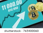bitcoin. new probable market... | Shutterstock . vector #765400060