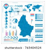 luxembourg vector map and... | Shutterstock .eps vector #765404524