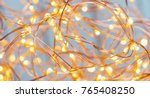 christmas copper wire string... | Shutterstock . vector #765408250