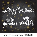 christmas quotes lettering set. ... | Shutterstock .eps vector #765413980