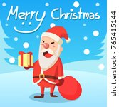 merry christmas santa claus... | Shutterstock .eps vector #765415144
