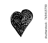 ink hand drawn heart symbol... | Shutterstock .eps vector #765415750