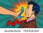 girl power  woman fights with a ...   Shutterstock .eps vector #765416164