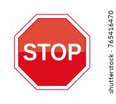 illustration traffic stop sign... | Shutterstock .eps vector #765416470