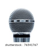 Blue Microphone Isolated On...