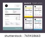 invoice template set  ... | Shutterstock .eps vector #765418663