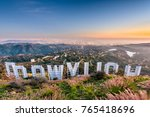 los angeles  california  ... | Shutterstock . vector #765418696
