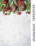 Christmas Background. Snow Fir...