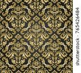 classic seamless vector black... | Shutterstock .eps vector #765426484