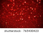Beautiful Red Hearts Bokeh...