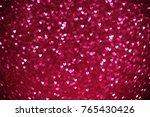 beautiful pink hearts bokeh... | Shutterstock . vector #765430426