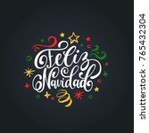 feliz navidad translated from... | Shutterstock .eps vector #765432304