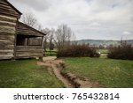smoky mountain log cabin.... | Shutterstock . vector #765432814