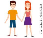 lovers couple avatars characters | Shutterstock .eps vector #765434944
